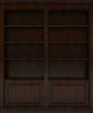 Dark Wooden book shelf Royalty Free Stock Photography