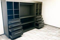 Dark wooden cupboard side Royalty Free Stock Photos