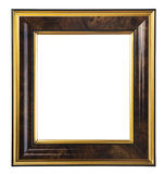 Dark wooden picture frame Royalty Free Stock Photos