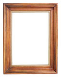 Dark wooden picture frame Stock Photography