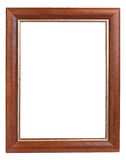 Dark wooden picture frame Royalty Free Stock Photography