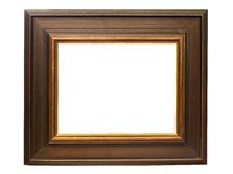 Dark Wooden Picture Frame w/ Path Stock Images