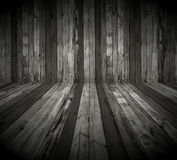Dark Wooden Room. A dark wooden room as a background Stock Images