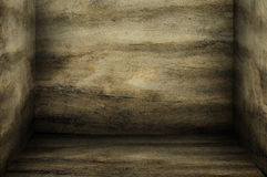 Dark wooden room Royalty Free Stock Photo