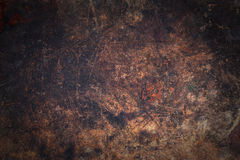 Dark wooden surface with scratches and spots Royalty Free Stock Photos