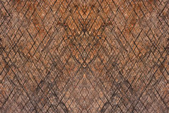 Dark wooden texture with diagonal pattern. Stock Images