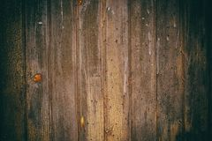 Dark wooden texture on the hovel. Old dirty and dusty wood, textured background. Texture of aged door to workshop Stock Photo