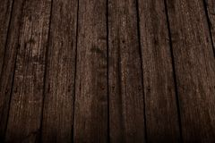 Dark wooden texture. Wood brown texture. Background old panels. Retro wooden table. Rustic background. Vintage colored surface. stock image