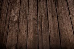 Dark wooden texture. Wood brown texture. Background old panels. Retro wooden table. Rustic background. Vintage colored surface. stock photo