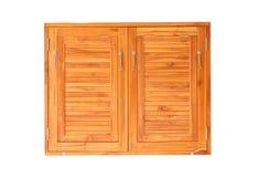 Dark wooden windows. Stock Images