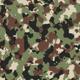 Dark woodland seamless camo pattern Royalty Free Stock Images