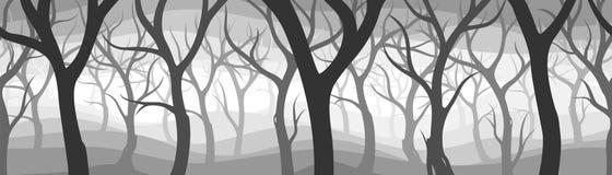 Dark woods. Dark forest background repeat-x Royalty Free Stock Photo