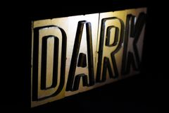 DARK: WOODY WORDS royalty free stock image