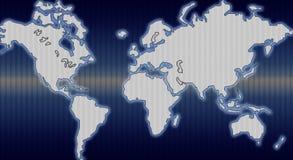 Dark world map Stock Photos