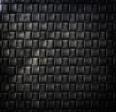 Dark woven leather background. Pattern Royalty Free Stock Photos