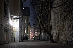 Dark Yard In Tallinn Stock Photography