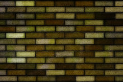Dark yellow brick wall Royalty Free Stock Image