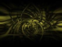 The dark yellow green. Dark yelow-green abstract background, illustration Royalty Free Stock Image
