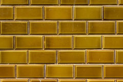 Dark yellow outdoor ceramic tiles Royalty Free Stock Image
