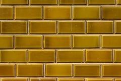 Dark yellow outdoor ceramic tiles Royalty Free Stock Image