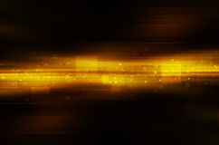 Dark yellow technology background Stock Photo