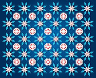 Darkblue snowflake background Royalty Free Stock Images
