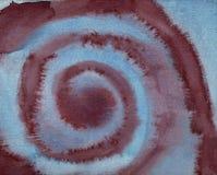 Darked błękita spirala - Wodnego koloru obraz royalty ilustracja