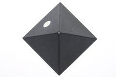 Darken piramid. Isolated on white background Royalty Free Stock Photos