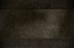 Darken texture with medieval ornaments Stock Photos