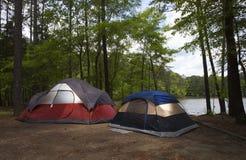 Darkened campsite Stock Images
