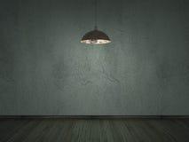 darklight-Innenhintergrund der alten Zementsprungs-Wand Stockfotos
