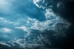 Darkness cloud background ,raining cloud. Sky, storm, nature, cloudscape, heaven, weather, climate, black, thunderstorm, gray, cloudy, danger, overcast stock photography
