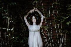 Darkness, Dress, Girl, Tree Royalty Free Stock Image