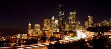 Darkness Falls Town Center Seattle Washington Stock Photo