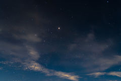 Darkness and star clouds blue night Royalty Free Stock Images