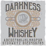 Darkness Whiskey Poster Stock Photo