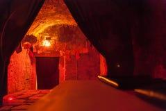 Darkroom lochu fotografii fotografii rocznika procesu wewnętrzny aksamit Zdjęcie Royalty Free