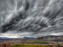 Darks clouds. Dark storm clouds over Okanogan valley royalty free stock photography