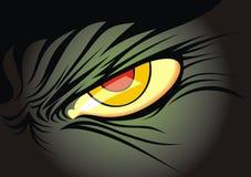 Darky yellow eye. Of the wild animal Royalty Free Stock Image