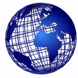 Darl blue globe 3d Royalty Free Stock Images
