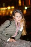 Darling. Walk on night city, St.-Petersburg Stock Images