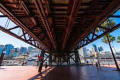 The Darling Bridge in Sydney stock photography