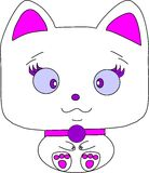 Darling cat for Your Desing on a white background Royalty Free Stock Photos