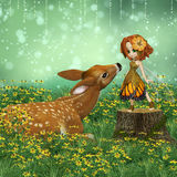 Darling  Fawn Royalty Free Stock Images