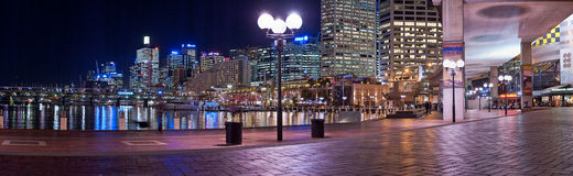 Darling Harbor at night Royalty Free Stock Image