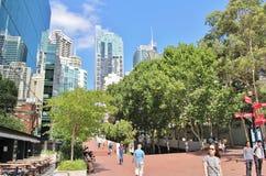 Darling Harbor Sydney Arkivbilder