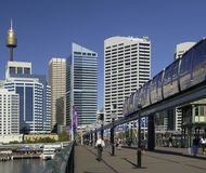 Darling Harbor - Sydney - Australia. The monorail in the Darling Harbor area of Sydney in Australia Stock Images