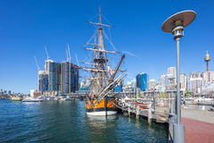 Darling Harbor Sydney during Clear Bright Sky Stock Photos