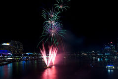 Darling Harbour 21st Birthday Fireworks. Sydney, NSW, Australia Stock Image