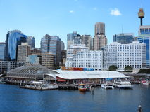 Darling Harbour environment with skyline Sydney Royalty Free Stock Images